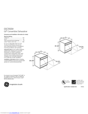 GE GSC3500V Dimensions And Installation Information