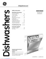 ge gsd2100vbb manuals rh manualslib com ge dishwasher owners manual ge profile dishwasher user manual