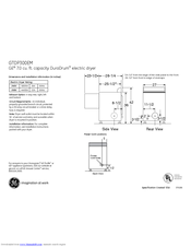 GE GTDP300EM Dimensions And Installation Information