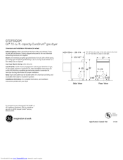 GE GTDP300GMWS Dimensions And Installation Information