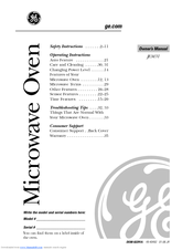 Ge Jem31bf Emaker Ii Microwave Oven Owner S Manual