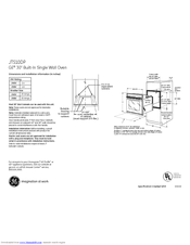 GE JTS10DP Dimensions And Installation Information