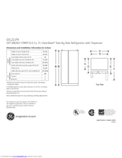 GE GSL22JFRBS Dimensions And Installation Information