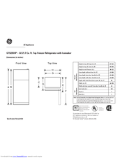 Ge GTS22KHP Manuals on