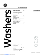 GE GTWN4450M User Manual