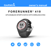 garmin forerunner 410 instructions
