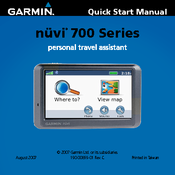 Garmin nuvi 750 Quick Start Manual