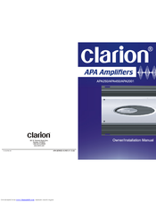Clarion APA250 Owners & Installation Manual
