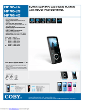 coby mp705 4g mp 705 4 gb manuals rh manualslib com Coby MP705 Driver Coby MP705 Driver