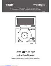 coby tfdvd7008 dvd player 7 manuals rh manualslib com coby portable dvd player tf-dvd7005 manual coby portable dvd player manual cx-cd109