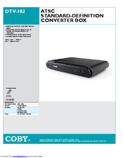 coby dtv 102 manuals rh manualslib com Digital Converter Box Government Coupon Digital TV Antenna Converter Box