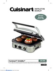 cuisinart griddler gr 4n instruction booklet pdf download rh manualslib com Cuisinart 5 in 1 Griddler Cuisinart Griddler Compact Grill