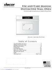 dacor do130 use and care manual pdf download rh manualslib com