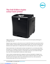 dell 3130cn color laser printer manuals rh manualslib com dell 3130cn laser printer driver Dell 3115