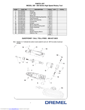 dremel 300 series manuals rh manualslib com dremel 300 series manual dremel 300 service manual