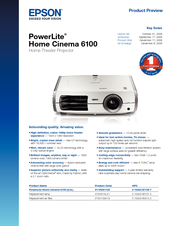 epson powerlite home cinema 6100 manuals rh manualslib com Epson PowerLite 915W Epson PowerLite S11