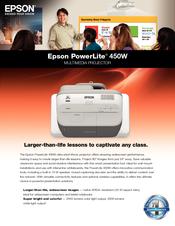 epson powerlite 450w manuals rh manualslib com Epson PowerLite 2250U Epson PowerLite 955W