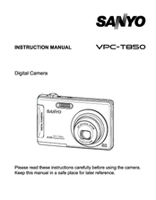 sanyo vpc t850 instruction manual pdf download rh manualslib com