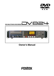 fostex dv 824 manuals rh manualslib com User Training User Manual