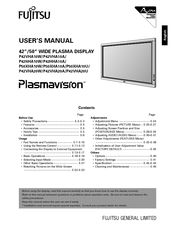 Fujitsu Plasmavision P42VHA20U User Manual