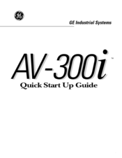 GE AV-300i Quick Start Up Manual