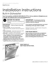GE GSD4000V Installation Instructions Manual