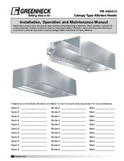 greenheck ggew series manuals rh manualslib com Vent Hoods for Kitchens Outdoor Grill Exhaust Hood