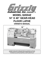Grizzly G0554Z Owner's Manual