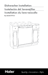 Haier DWL4035DCBB Installation Manual