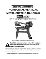 central machinery 93762 manuals rh manualslib com central machinery band saw manual central machinery belt sander manual