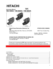 Hitachi VM-2800A Instruction Manual