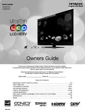 hitachi ultrathin le46s704 manuals rh manualslib com Hitachi Ultravision Lamp Replacement Ultravision Hitachi Televisions