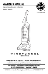 Hoover Windtunnel UH70120 Owner's Manual