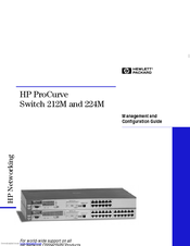 HP ProCurve 224 Management And Configuration Manual