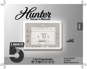 hunter 44905 owner s manual pdf download rh manualslib com Hunter Max Touchscreen Thermostat Hunter Max Touchscreen Thermostat