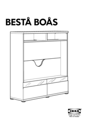 ikea besta boas aa 326647 6 manuals. Black Bedroom Furniture Sets. Home Design Ideas