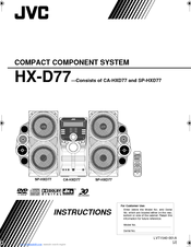 Jvc hx hx-d77 instructions manual pdf download.