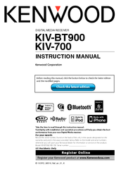 Kenwood KIV-BT900 Instruction Manual
