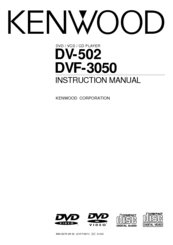 Kenwood DV-502 Instruction Manual