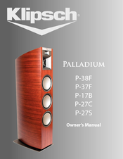 klipsch palladium p 38f manuals. Black Bedroom Furniture Sets. Home Design Ideas