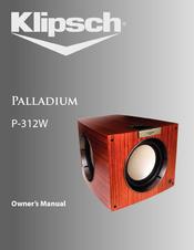 KLIPSCH PALLADIUM P-312W OWNER'S MANUAL Pdf Download