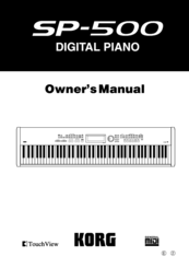 Korg SP-500 Owner's Manual