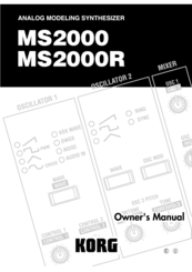 Korg MS2000R Owner's Manual