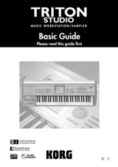 Korg Triton Studio Basic Manual
