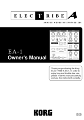 Korg Elec Tribe EA-1 Owner's Manual