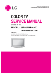LG 29FS2AMB/ANX SERVICE MANUAL Pdf Download