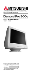 Manuals And User Guides For Mitsubishi Diamond Pro 900U We Have 1 Manual Available Free PDF Download