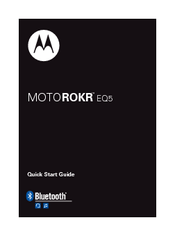 Motorola EQ5 - MOTOROKR™ Quick Start Manual
