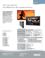 NEC LCD4020-2-AV Specifications