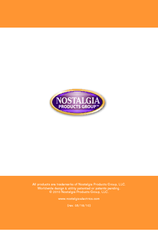 Nostalgia Electrics MARGARITA OASIS MOS-400 Series Instructions And Recipes Manual